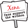 Xena fans support the writers